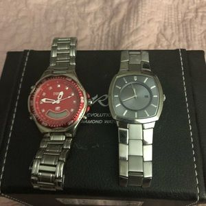 Accessories - 2 previously worn watches.  Only needs batteries